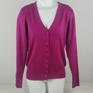 Cielo pink button down sweater size large